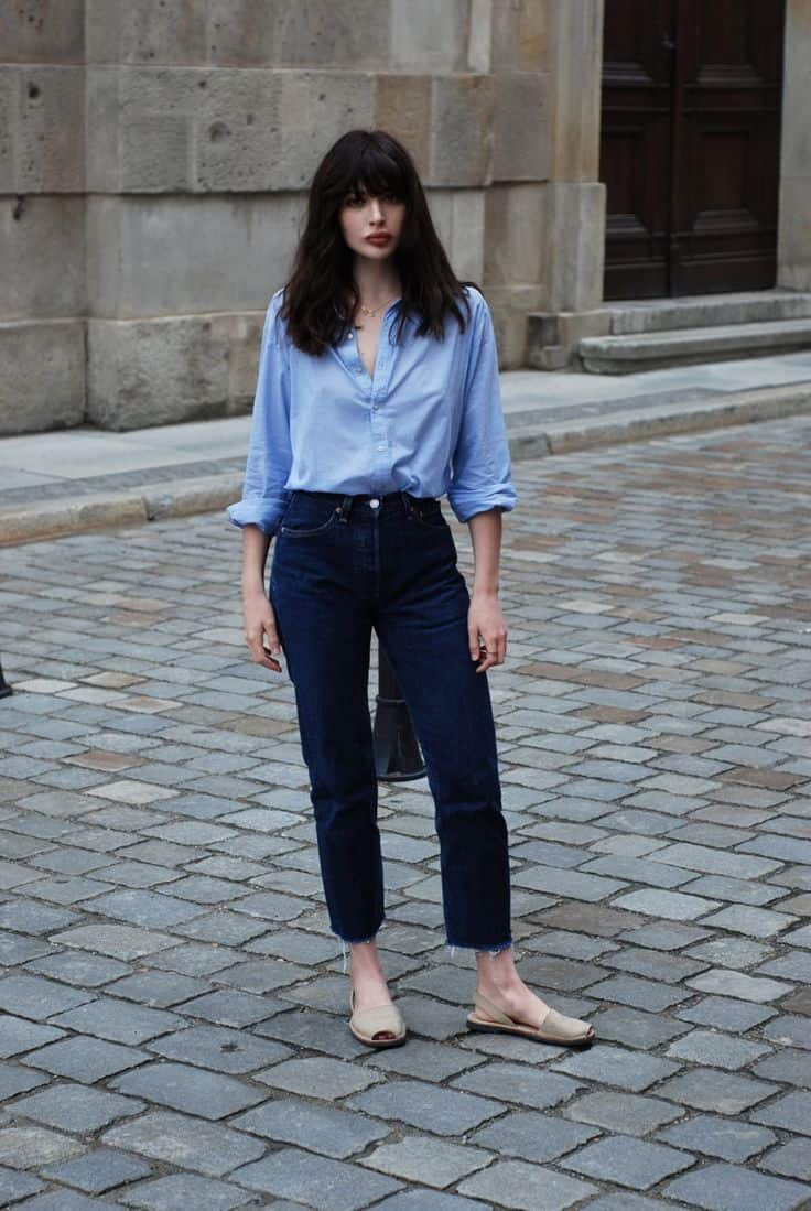 blue jeans-Outfit